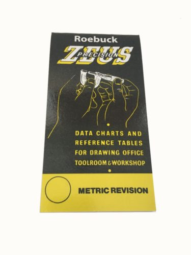 Zeus Precision Data Book Chart  U0026 Reference Tables
